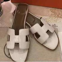 Hermes Oran Patent White Photo