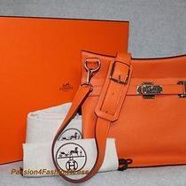 Hermes Orange 34cm Jypsiere/ Gypsy/jypsy Birkin Messenger Bag New Photo