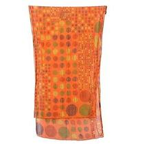 Hermes Orange Dotted Stole - a Fun Design Photo