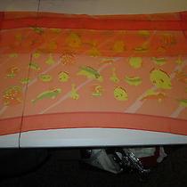 Hermes Orange Silk Scarf  Photo