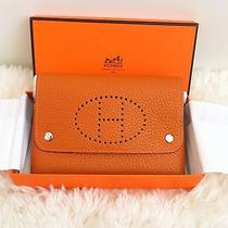Hermes Orange Small Pouch Photo