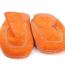 Hermes Orange Suede Slippers Photo