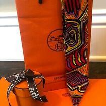 Hermes Paris Legend Kuna Peuple De Panama Twilly Scarf Orange/yellow Zoe Pauwels Photo