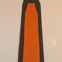 Hermes Paris Original Orange Brown Black H Logo Pattern Silk Knit Tie Exc Rare Photo