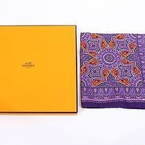 Hermes Paris Pochette Gavroche Cachemire Twill Ultra Violet Handkerchief  Photo