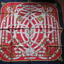 Hermes Paris Silk Scarf Cavalcadour by H. d'origny Gb Photo
