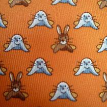Hermes Paris Tie - Orange 'Seal and Rabbit' - Mint Condition Photo