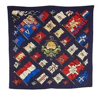Hermes Pavois Philippe Ledoux Multi-Color Silk Scarf Photo