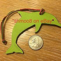 Hermes Petit H Dolphin Bag Charm Green Red Photo