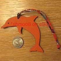 Hermes Petit H Dolphin Bag Charm Orange Purple Photo