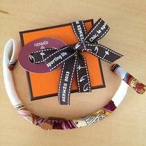 Hermes Petit H Silk Bracelet Scarf Ring Photo