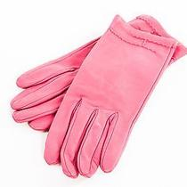 Hermes Pink Leather Gloves Photo