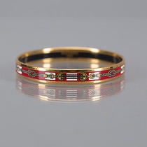 Hermes Red Rope Enamel Pm Bracelet Photo