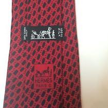 Hermes Red Silk Classic Men's 60