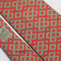 Hermes Red Silk Tie Photo