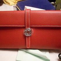 Hermes Red Wallet. Clutch Type. Vintage Used Pricing to Sell Must Look. Photo