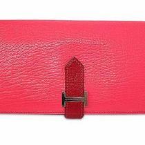 Hermes Rose Tyrien Bearn Soufflet Wallet & Ceramics H-Bangle Nyset Photo