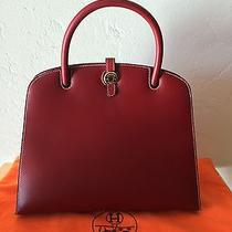 Hermes Sac Dalvy Rouge H Chamonix Gold Hatdware Mint Photo