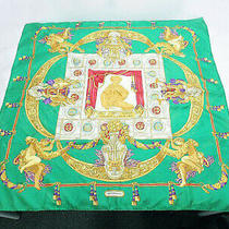 Hermes Scarf 88 Yellow Cleaned From Japan Fedex no.74429 Photo