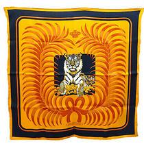 Hermes Scarf Bandana Tigre Royal Orange Animal Tiger Silk Woman Auth Mint 28 In Photo