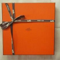 Hermes Scarf Box With Ribbon Square Empty Gift Quality 018 Photo