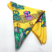 Hermes Scarf Boyfriend 90 Silk 100 Yellow System It Is Product Close to 14853 Photo