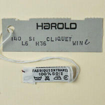 Hermes Scarf Care Tag With Harold Dept Store Tag 1980s to 1990s Silk Photo