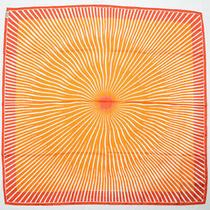 Hermes Scarf Carre 90 Silk Sun Bandana Orange Red Photo
