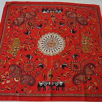 Hermes Scarf - Carre Kantha - Red  Photo