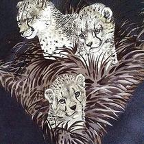 Hermes Scarf Guepards 90 Cm Silk Graphite Photo