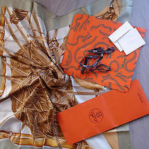 Hermes Scarf Jardin Creole New  With Bag Box Ribbon and Gift Card Photo