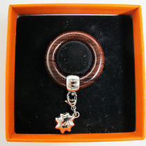 Hermes Scarf Ring Wood and Star  Photo