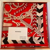 Hermes Scarf Size 88x88cm Orange Used From Japan F/s Photo