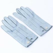 Hermes Serie Button Globe Ation Gloves Women 'S lt.blue no.7554 Photo