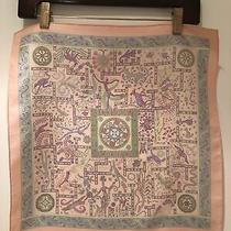 Hermes Silk Pink Scarf 16x16 Forces De La Vie Photo