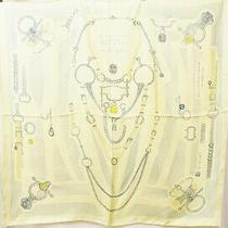 Hermes Silk Scarf Carre 90 Yellow From Japan Fedex no.74467 Photo