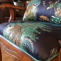Hermes Silk Scarf Equatuer Fabric Stanley Furniture Custom Chair Rare  Photo