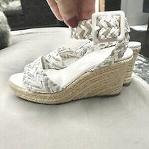 Hermes Sofia Braided Espadrilles Leather Platforms Wedges Sandals Women's 38 Photo