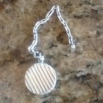Hermes Sterling Silver Charm Pill Locket Cadena Key Chain Photo