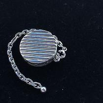 Hermes Sterling Silver Charm Pill Locket Cadena Key Chain Photo