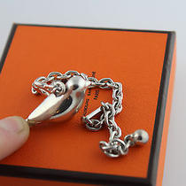 Hermes Sterling Silver  Key Chain Porte Cles Piaf Limited Edition  Nib 960 Photo