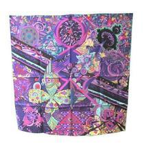 Hermes Stole Scarf l'ivresse De l'infini Purple Multi Floral Silk Woman 90 Cm Photo