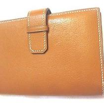 Hermes Tan Leather Wallet Photo