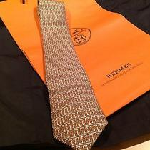 Hermes Tie 100% Pure Silk Photo