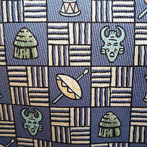 Hermes Tie 'African Mask and Drum' - Blue Photo