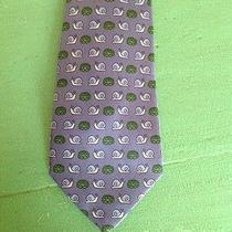 Hermes Tie Blue Snail Stunning Great Gift Photo