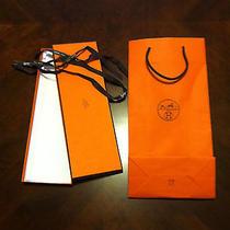 Hermes Tie Box Ribbon and Bag Photo