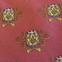 Hermes Tie Twill Silk Designer Marching Drums Pattern Red Dress Necktie 7174 Fa Photo