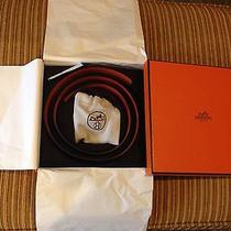 Hermes Togoleather Belt Kit H Buckle Orange/balck 90cm 32 Mm Nieman Marcus Photo