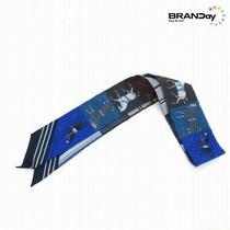 Hermes Twirry Scarf Couvertures Nouvellesblanketa Horse-Wearer Blue /221118 Photo